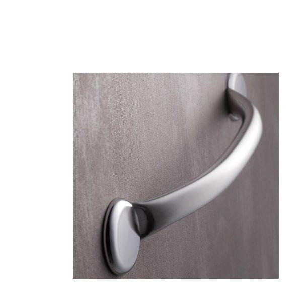 Barre d'appui droite banju inox brossé - 705 mm (photo)