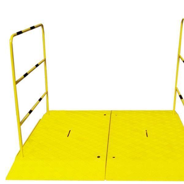Rampe pour chantier haute résistance avec main courante - double