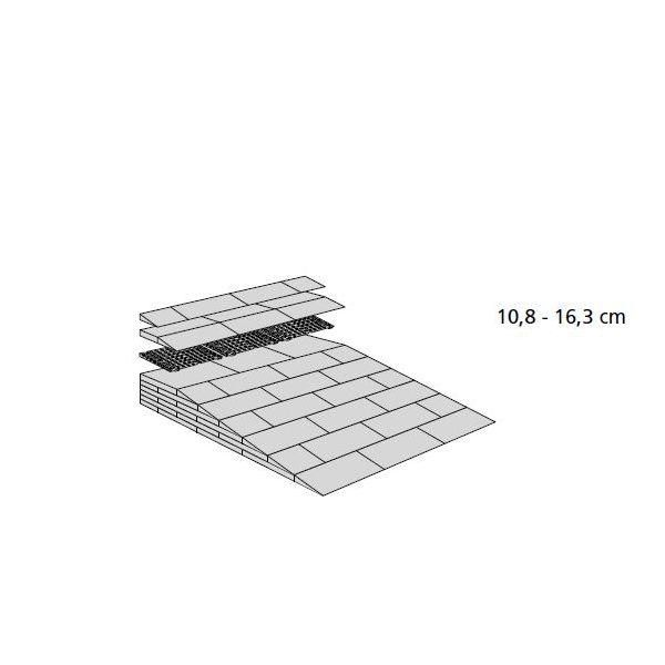 Rampes de seuil modulables h:de 108 à 163 mm - intérieur