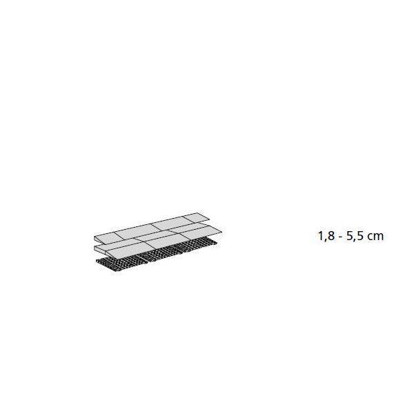 Rampes de seuil modulables h:de 18 à 55 mm - extérieur