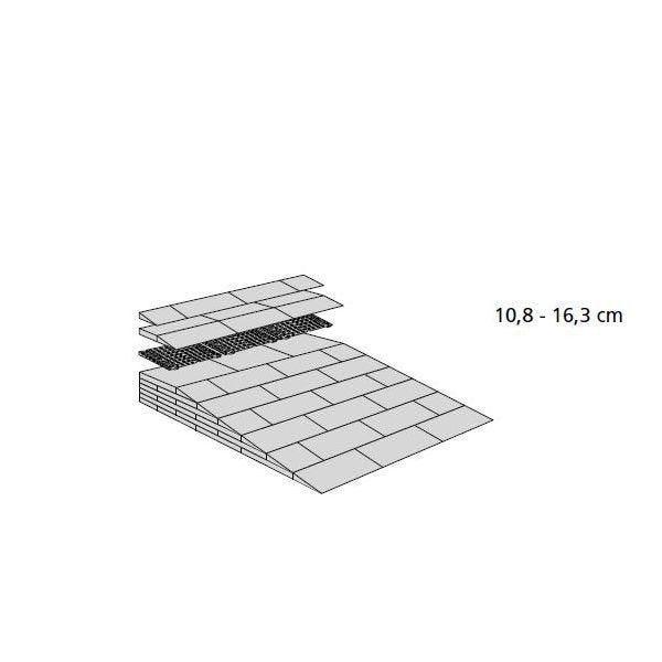 Rampes de seuil modulables h:de 108 à 163 mm - extérieur
