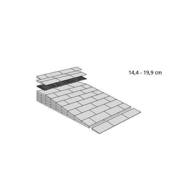 Rampes de seuil modulables h:de 144 à 199 mm - extérieur