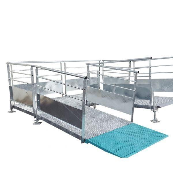 Rampe modulaire fixe en acier galvanisé personnalisable