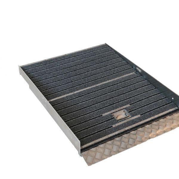 Rampe encastrée escamot 100 cm - avec tapis