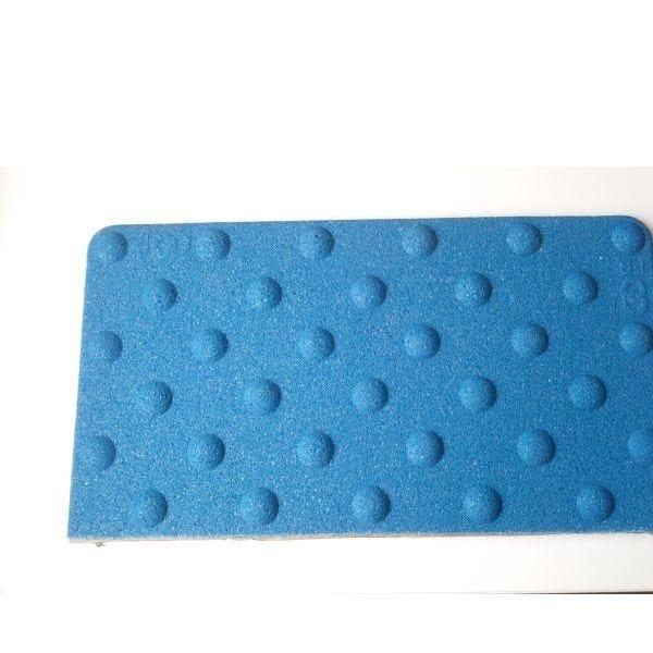 Dalle podotactile minérale avec adhésif épais bleu