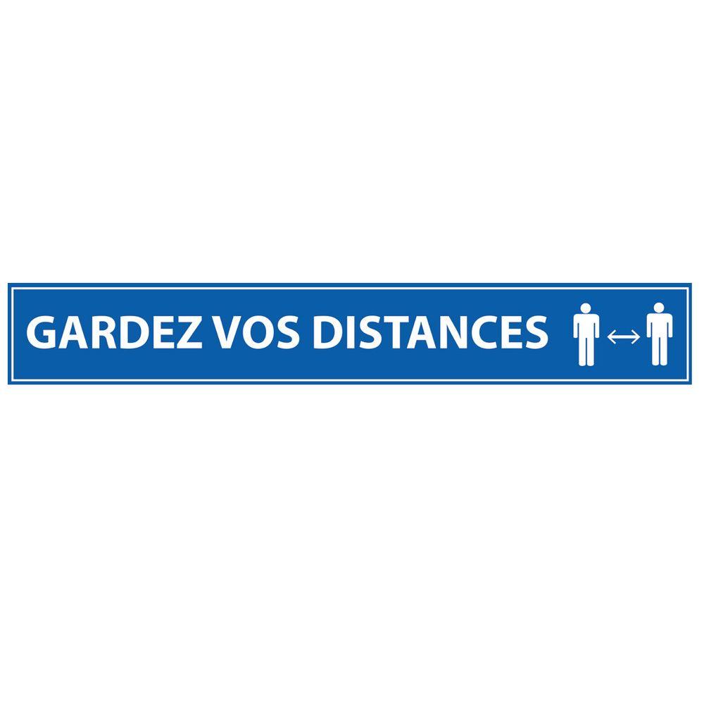 Gardez vos distances 700*100 bleu - adhésif de marquage au sol