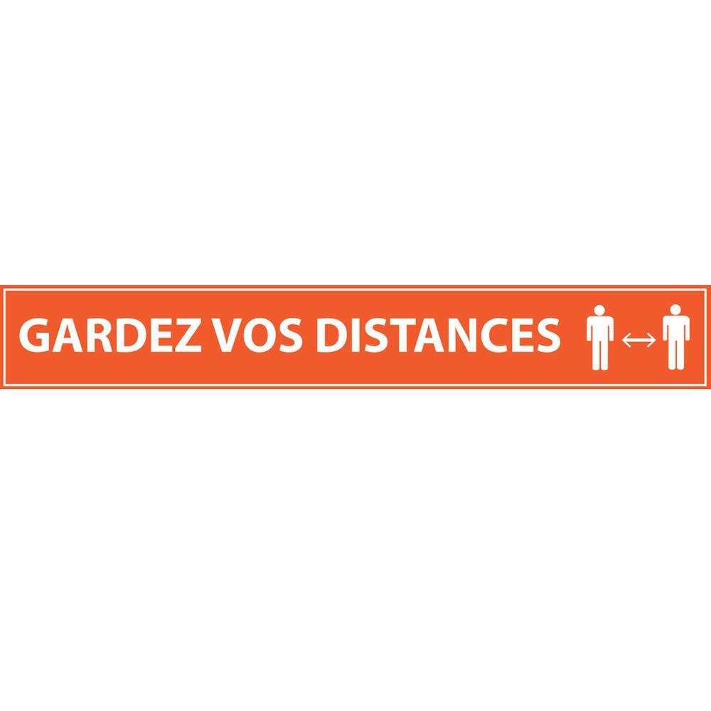 Gardez vos distances 700*100 orange - adhésif de marquage au sol