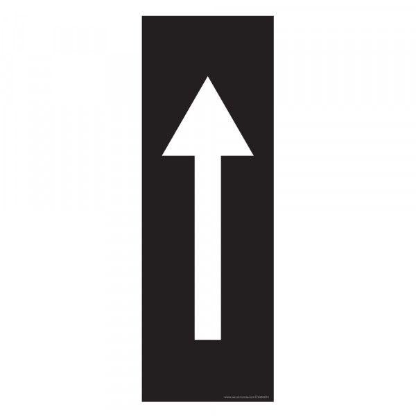 Marquage au sol Flèche 30 x 10 cm - flèche blanche - antidérapant Noir