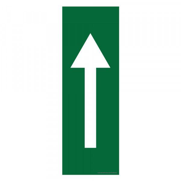 Marquage au sol Flèche 30 x 10 cm - flèche blanche - antidérapant Vert