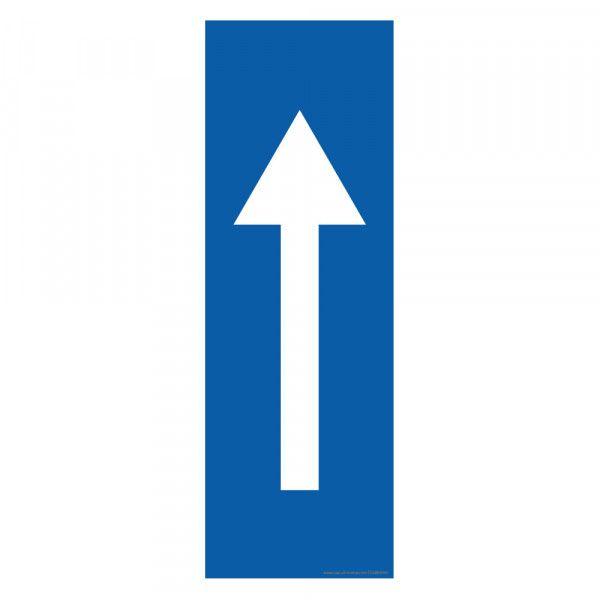 Marquage au sol Flèche 30 x 10 cm - flèche blanche - antidérapant Bleu