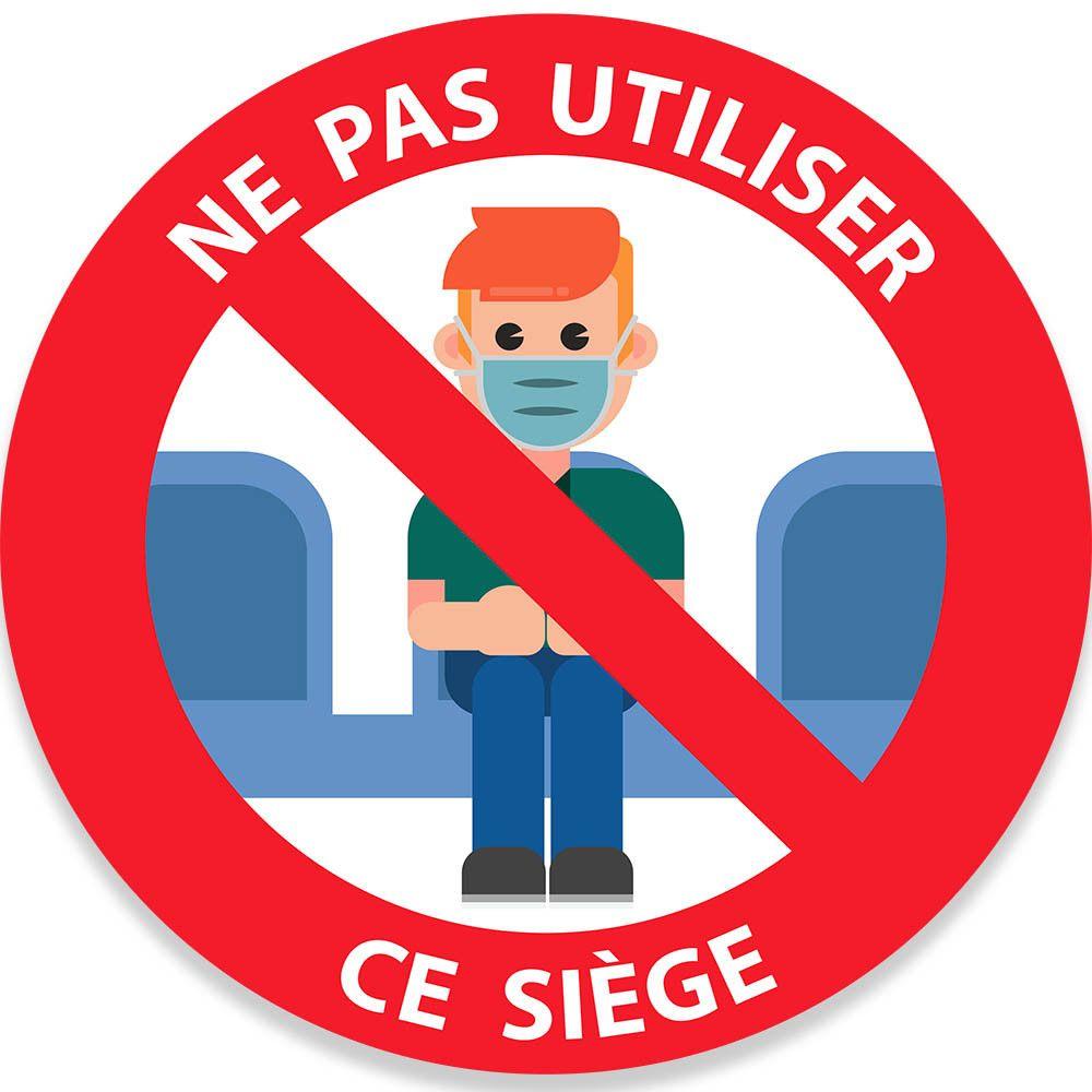 Adhésif Ne pas utiliser ce siège en couleurs Diam. :200 mm