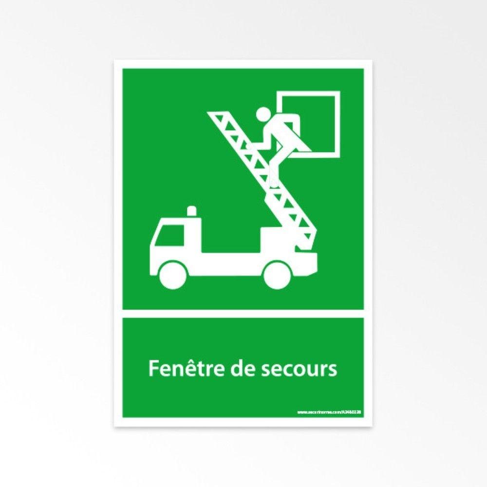 Panneau - Fenêtre de secours - E017 - A4- Vinyle