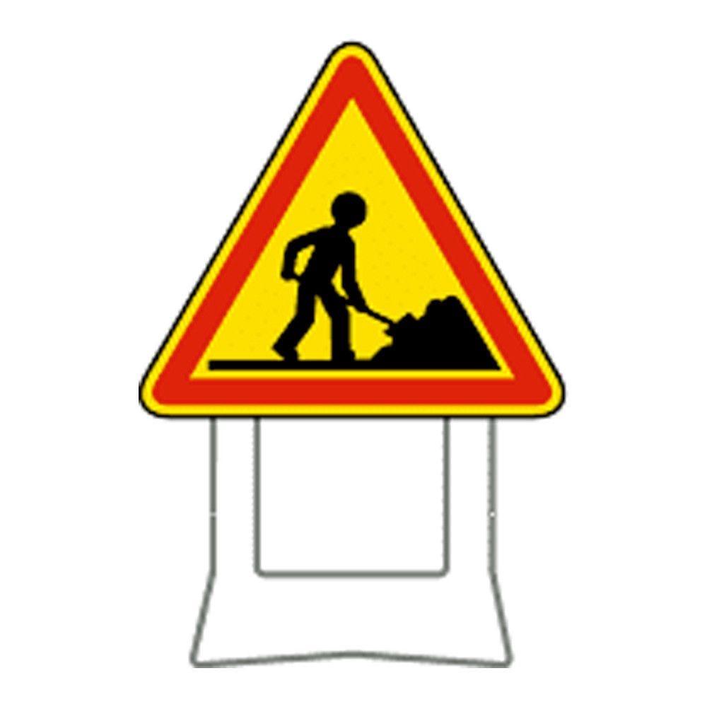 Panneau de chantier temporaire sur pieds H:700 mm