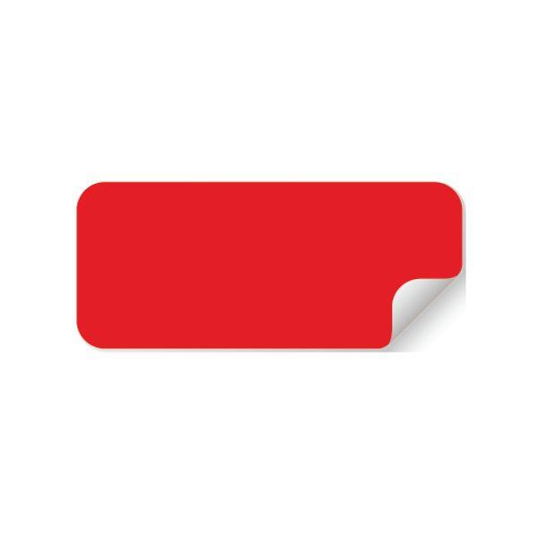 Pastilles Rectangulaires Multi-Usages - Rouge - 50 x 20 mm