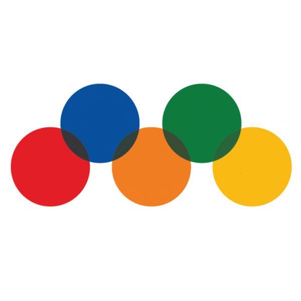 Pastilles Transparentes en Vinyle - Rouge - Diam. :25 mm