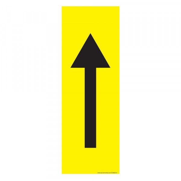 Marquage au sol Flèche 30 x 10 cm - flèche noire - antidérapant - Jaune