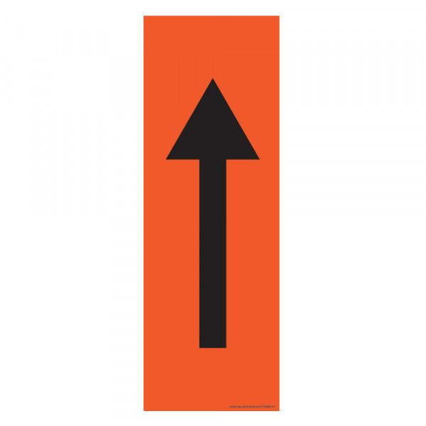 Marquage au sol Flèche 30 x 10 cm - flèche noire - antidérapant - Orange