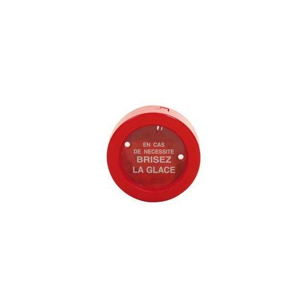 Vitre de remplacement pour boîte à clés de format rond ø110 mm