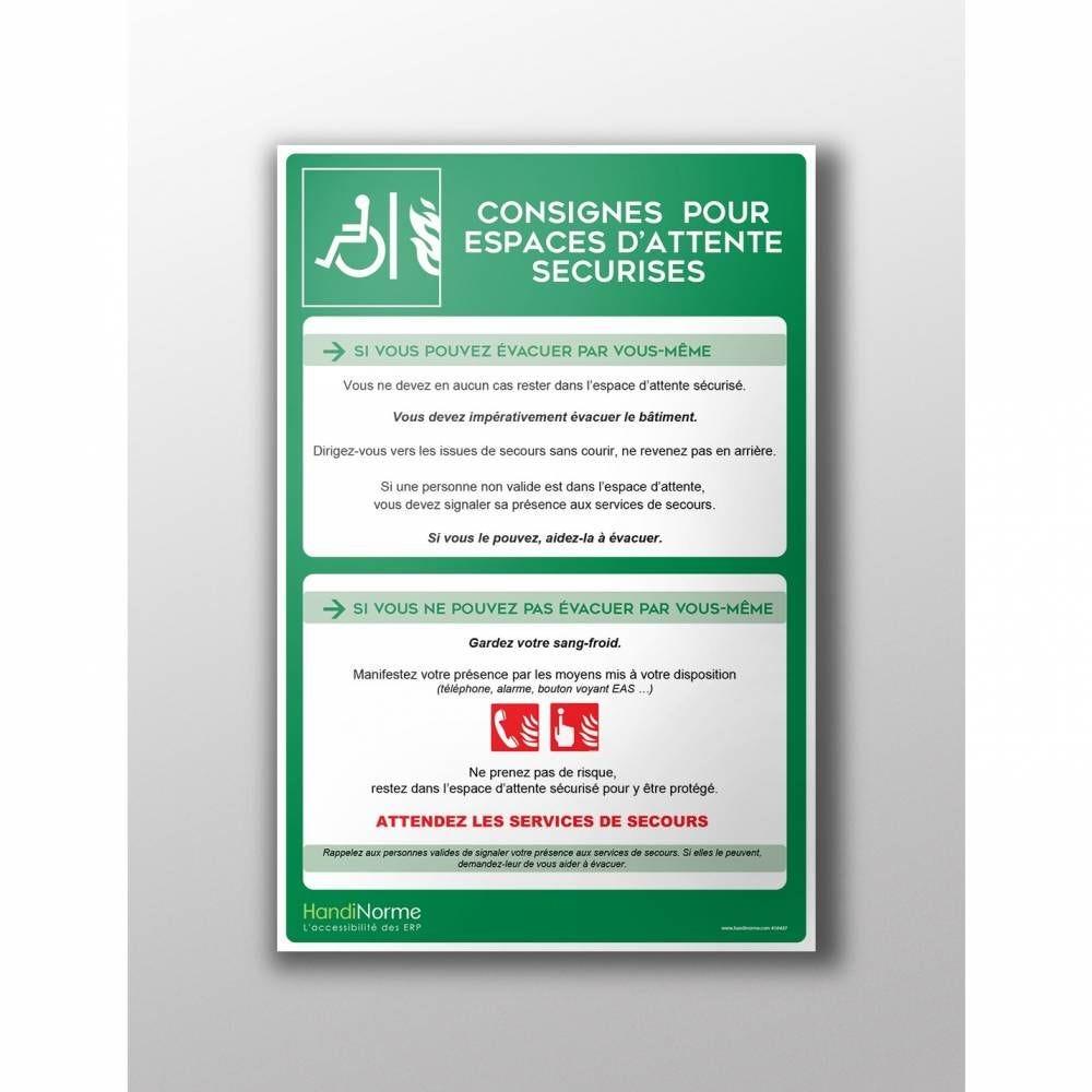 Poster Consignes pour Espace d'Attente Sécurisé A3