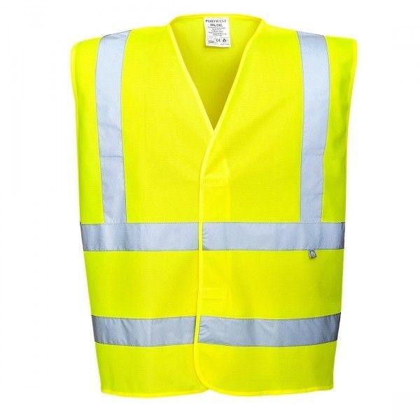 Gilet haute visibilité jaune antistatique -L