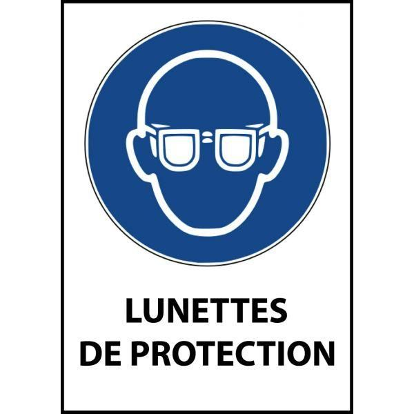 Panneau 'lunettes de protection obligatoires' m004 autocollant a5