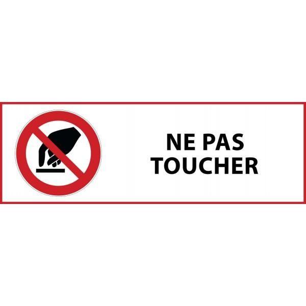 Panneau 'interdiction de toucher' p010 pvc 450x150mm