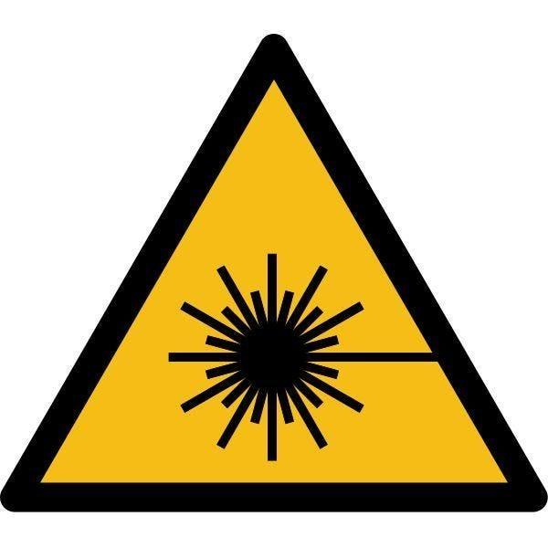 Picto danger'rayonnement laser' w004 autocollant -l:50mm
