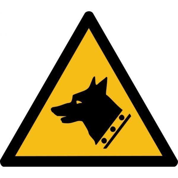 Picto danger'chien de garde' w013 autocollant -l:100mm