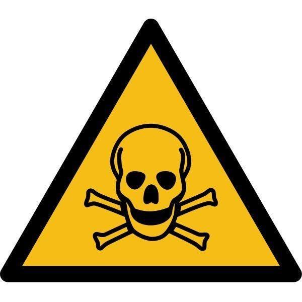 Picto danger'matières toxiques' w016 autocollant -l:200mm