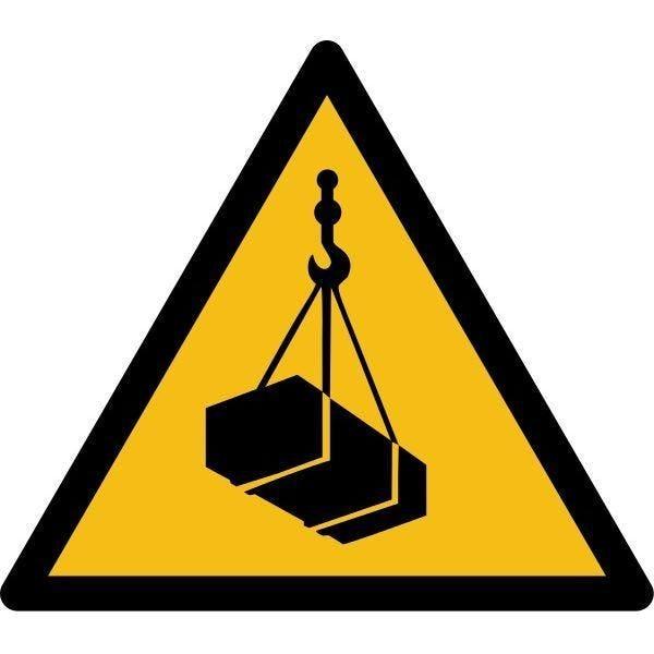 Picto danger'charges supendues' w015 autocollant -l:200mm