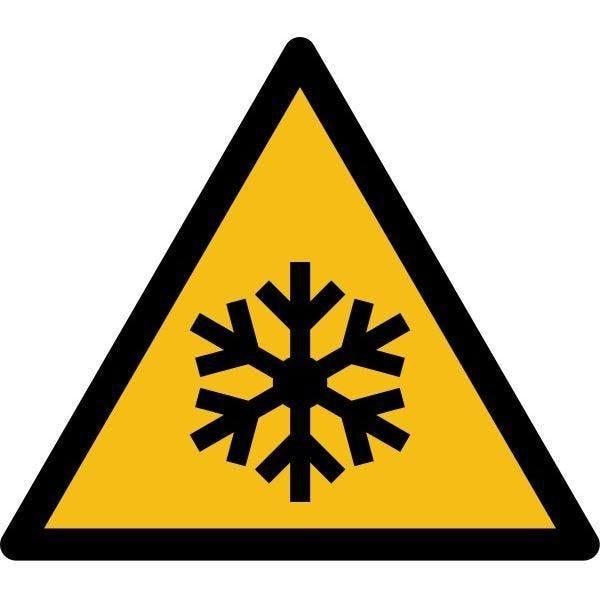 Picto danger'basses températures, conditions de gel' pvc -l:100mm