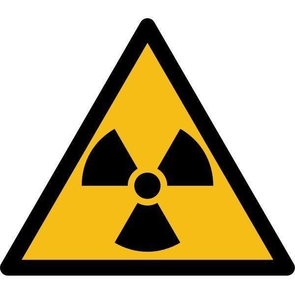 Picto danger'matières radioactives ou radiations' w003 pvc -l:200mm