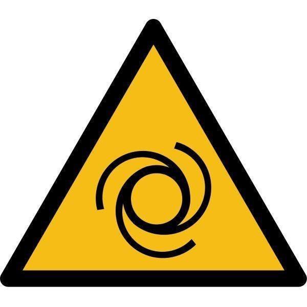 Picto danger'démarrage automatique' w018 pvc -l:200mm
