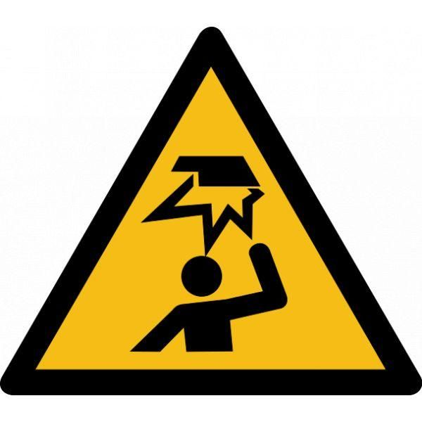 Picto danger'obstable en hauteur' w020 pvc -l:200mm