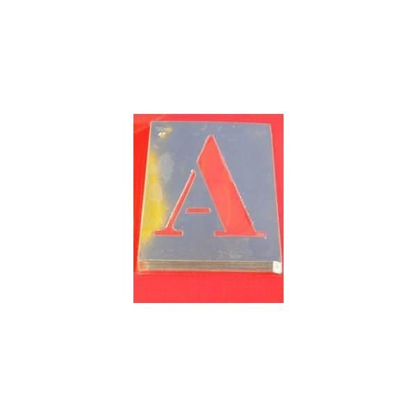 Pochoir en aluminium 'lettres et chiffres'-alphabet