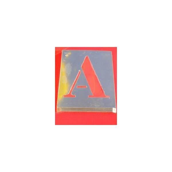 Pochoir en aluminium 'lettres et chiffres'-des chiffres et des lettres