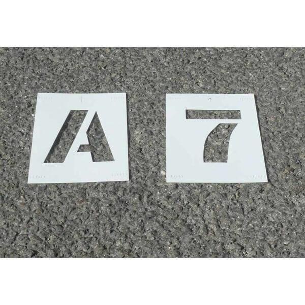 Pochoir lettres & chiffres pvc 75mm