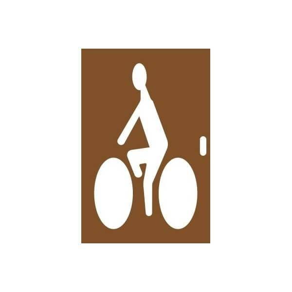 Pochoir en bois cycliste 2 tailles 80x128 cm