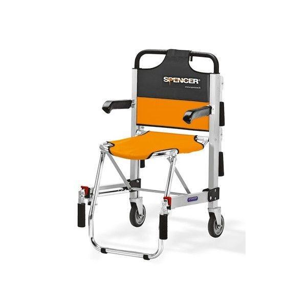 Chaise d'évacuation ergo 2 roues-avec accoudoirs (photo)
