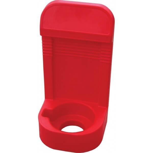 Socle simple pour extincteurs de 6 à 9 kg rouge (photo)