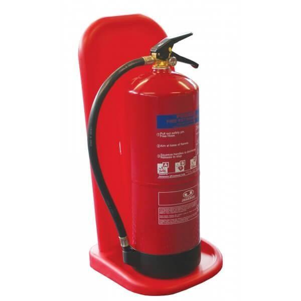 Socle simple pour exctincteurs de 6 à 12 kg rouge (photo)