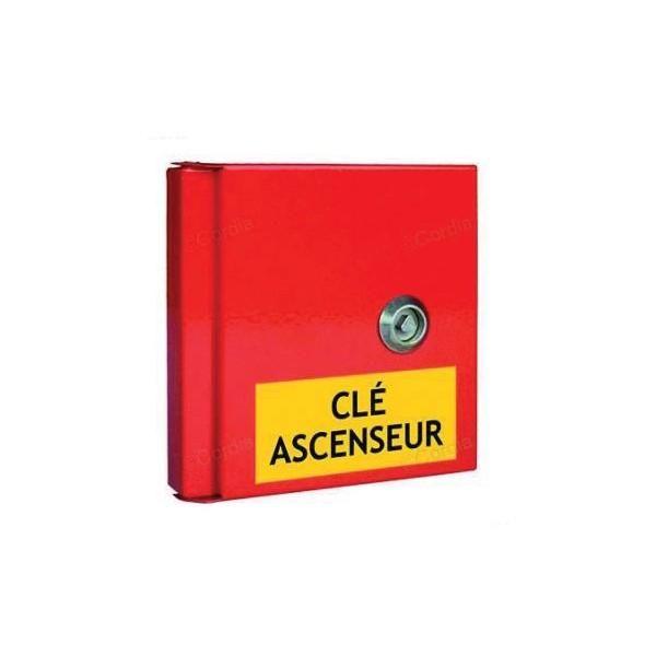 Boîte à clés pour local technique 3 étiquettes autocollantes (photo)