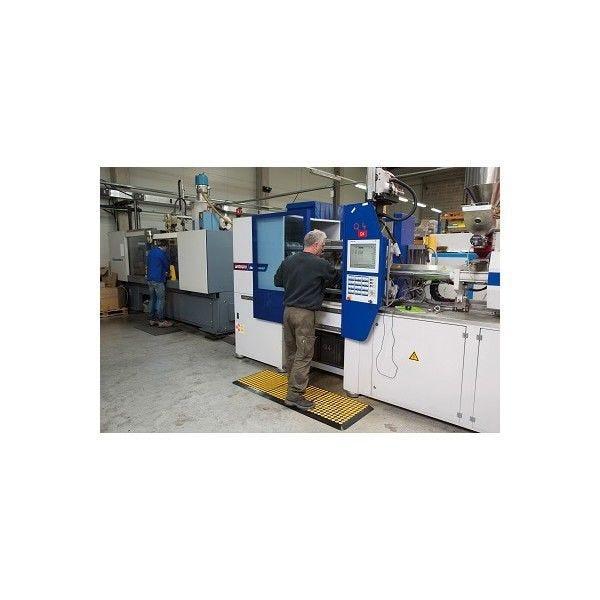 Tapis antifatigue solmat pour environnement avec trace d'huile bleu-2 bords