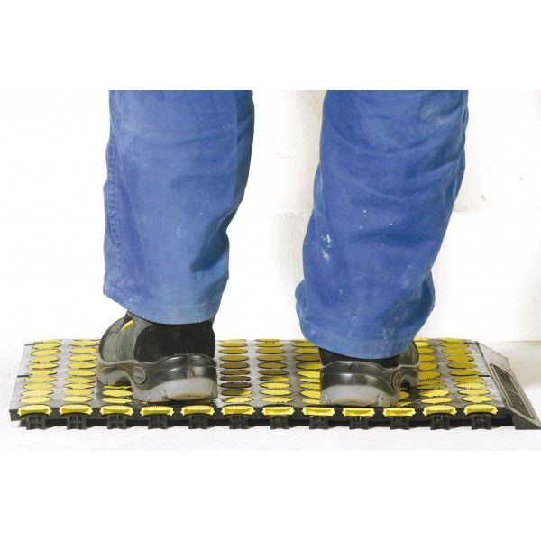 Tapis antifatigue solmat antistatique jaune-1 bord (photo)