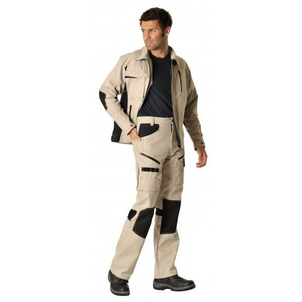 Pantalon workwear dynamic marron taille : 54