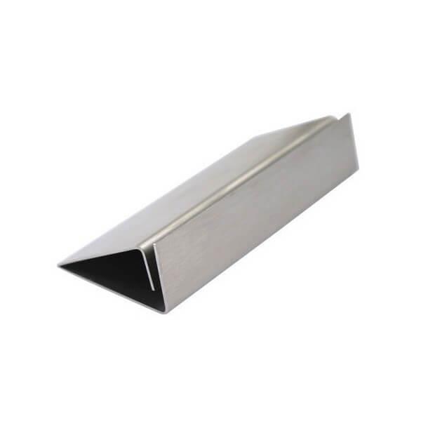 Socle en alu pour panneau vertical longueur : 21 cm (photo)