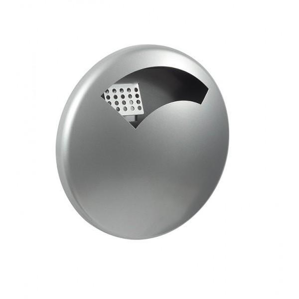 Cendrier mural ecodisco gris métal contenance : 0,5 l (photo)