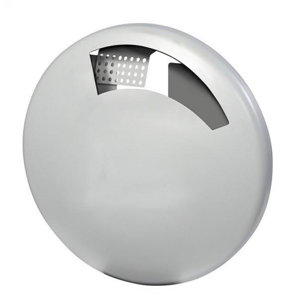 Cendrier mural ecodisco gris métal contenance : 1,5 l (photo)