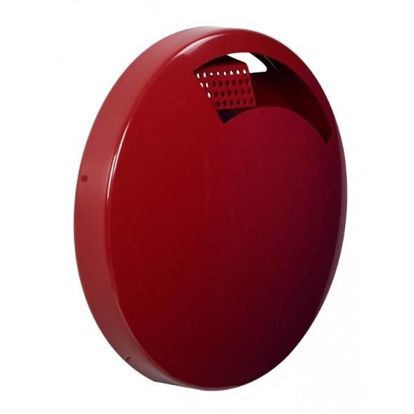 Cendrier mural ecodisco rouge contenance : 1,5 l (photo)