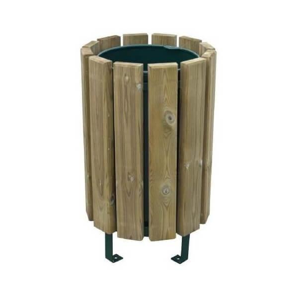 Corbeille / poubelle de jardin 'eco' bois autoclave 80 litres (photo)